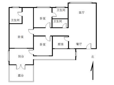 祥店新村,南北大三房3卫,带露台可种花,住家装修。