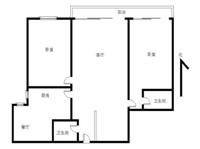 看山看公园 滨北世纪海湾新城 居家2房可改3房 近地铁 满二