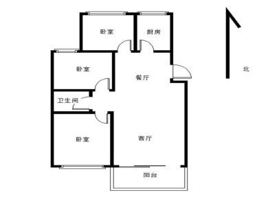 侨福城小区正规3房,业主稳定出售,近瑞景加州商圈