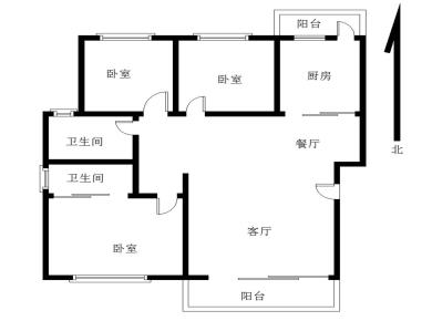 塔埔社区3居120.78平3房2厅2卫双阳台业主出售