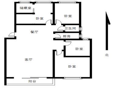 《阳光美地》106.73平3房2厅南北通透免双说平层