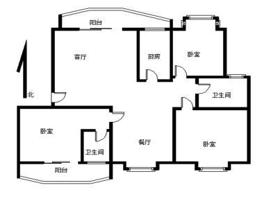 海峡商贸城大三房 超大露台 实际使用120平 单价优美