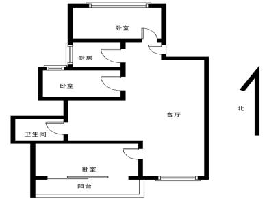 04年花园小区,人车分流三房朝南带阳台。