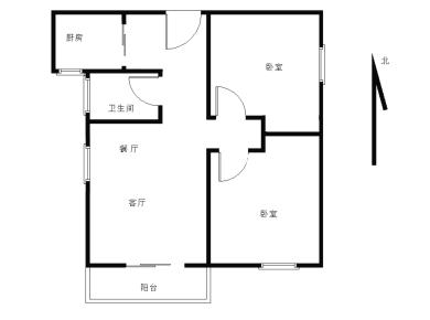 前埔南区,古楼广场古兴里电梯两房,厅带阳台朝南,可以改3房