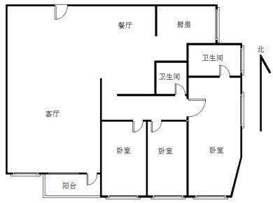 公园小学旁,高层3房,东南户型好,看房方便