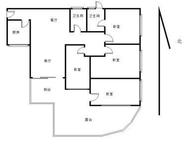 盈翠大厦 4房2厅2卫 第二实验小学莲花中学 送100平露台