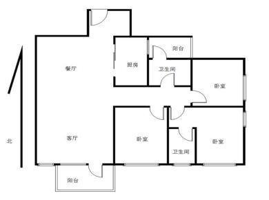 万科金域华府 精装3房 东南向 户型方式