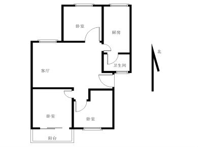 软件园旁 前埔 岭兜小区 中间楼层三房 低总价 看房方便南北