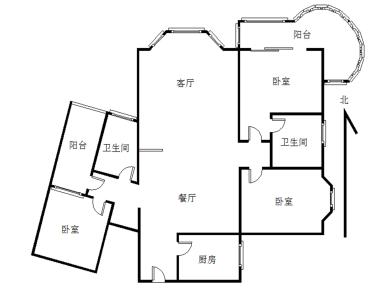 思北 华侨海景城 三房 低总价 精装拎包入住