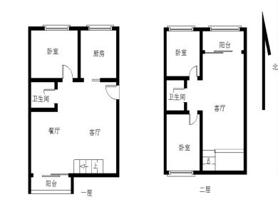 香榭园楼中楼南北户型性价比超高