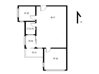 虎园路2房 安静不沿街 实验小学,框架结构,电梯2房