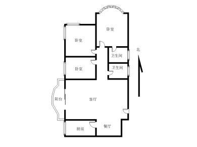 湖滨南地铁口 电梯高层3房 边套户型 拎包入住