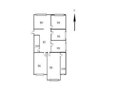 欣华花园5居室,朝南北,使用率高