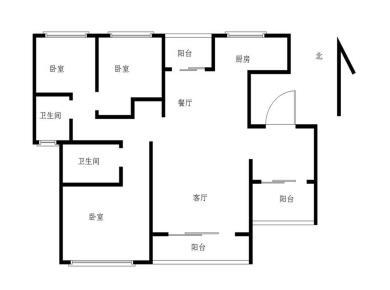 角美万达中央华城,通透3房,单价12500,满2年