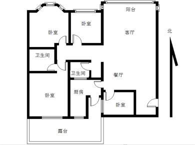 东盛花园使用180平的四房