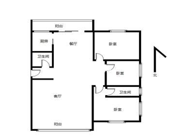 江山帝景 3居室 东南北三面采光 海景房