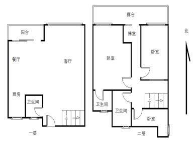 顶层楼中楼 赠30平露台 80平天台 精装修 视野开阔