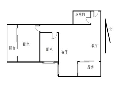 松柏 四川大厦 电梯高层74平2房