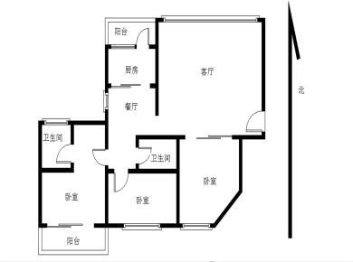 联发新天地三房两厅南北双阳台
