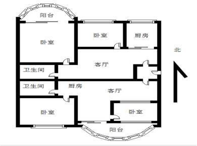 诚售 厅朝南带阳台 大三房可改四房 封闭小区 湖明槟榔校