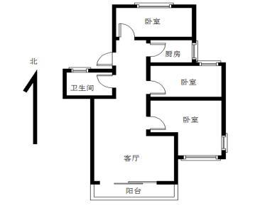 瑞景BRT旁 精装三房  3楼  南北通透  厅带阳台朝南