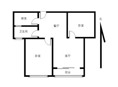 汇景新城中心,两房,朝南带阳台