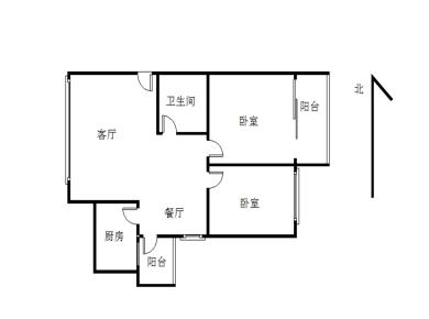 建发绿家园 正规2房 中间楼层 满2年 精装修