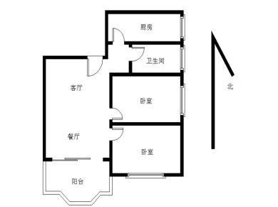莲前 瑞景 联丰瑞园 电梯2房 厅带阳台 户型方正 全明格局