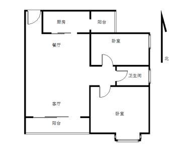 万科金色悦城 精装2居 产权满二 高层视野好 通透户型