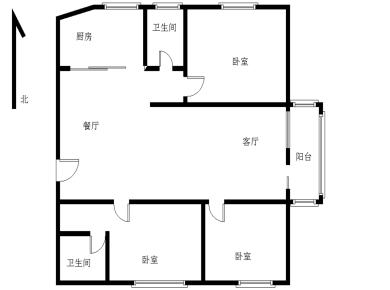 松柏大厦全明3房可改4房