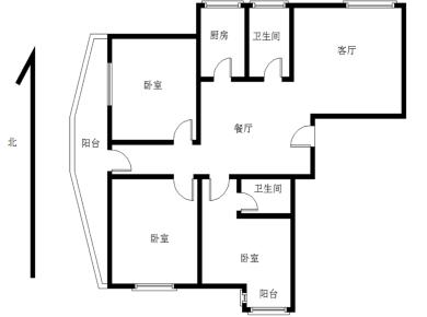 锦辉国际花园3居电梯