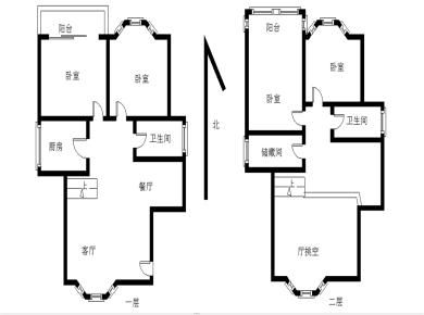 金山城4房复式楼中楼.客厅挑5.8米