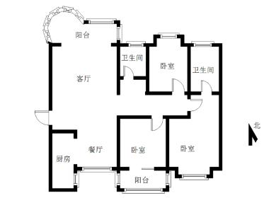 双十有学位,滨海上城,大3房,南北通透,无遮挡