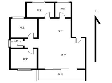 sm商圈,梅阳花园,南北通透三房,仅370万