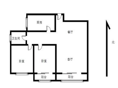 朝南的两房,看小区中亭,产权满2年