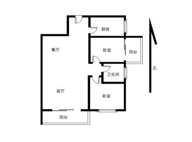 莲花地铁口小区高层客厅带阳台 产权满两年