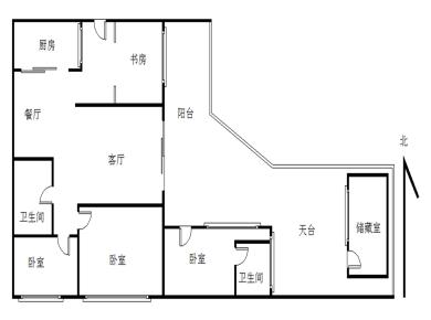 华侨海景城二期 4室2厅