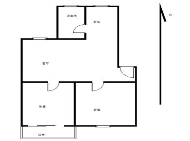 莲花五村龙华里正规两房可改三房 南北通透