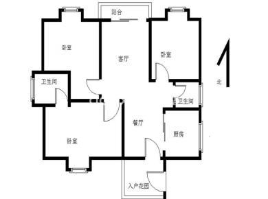 高楼层 采光好 大三房 视野开阔,有入户花园