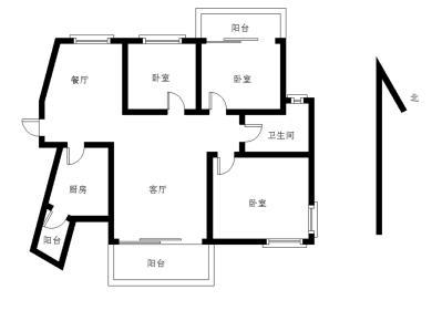阿罗海对面 天湖三房两厅三阳台 业主置换出售