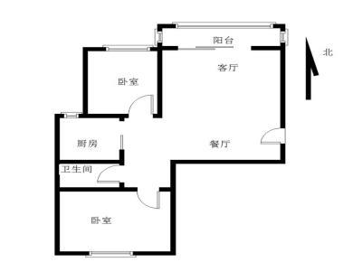 岳口小学,六中,看房方便,南北通透户型,满二年,自主装修二房