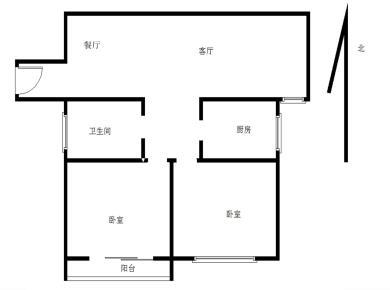 锦绣正规两房 户型方正 全明格局