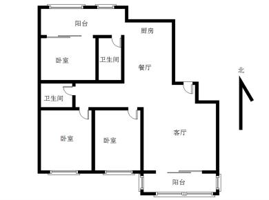 富山莲坂商圈居家三房南北通透可以做四房