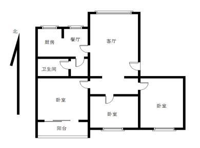 莲坂西小区3居满五