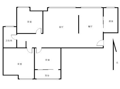 大学康城一期新出精装房 110平南北向大3房