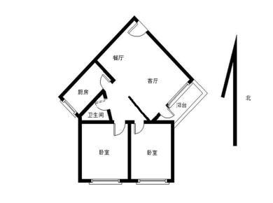 金鸡亭花园小区精装2房朝南  客厅带阳台 独门独户 拎包入住