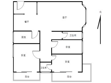 两年难于一套 业主诚意出售 高层东南向原大四房现做三房