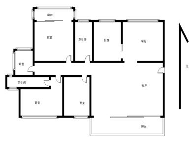 裕发花园二期,大4房精装修,户型方正