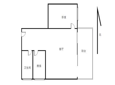 京口岩一房一厅  采光好 楼层好