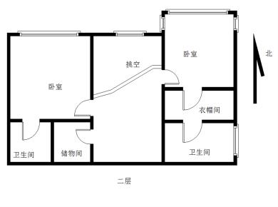 禾祥西路 金丰花园4居 03年封闭小区 精准三房 楼中楼